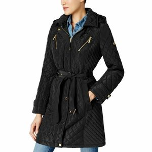 MICHAEL Michael Kors Quilted Belted Coat